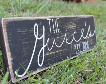 Personalized Established sign