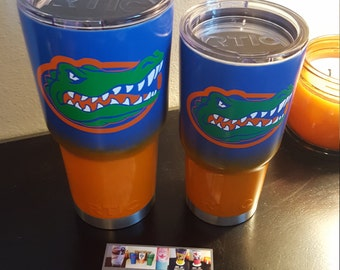 Florida inspired|Gators inspired|football|sec|Paisley Mae Designs|custom|sports team|insulated cup|yeti|Rtic|ozark trail