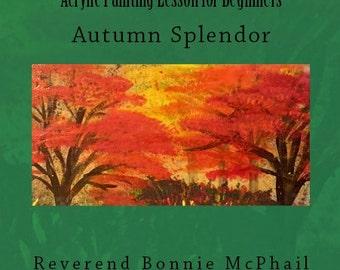 Friends and Gems - Acrylic Painting Lesson - Autumn Splendor