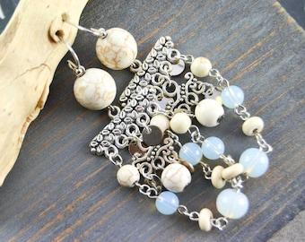 Bohemian ethnic earrings - Chandelier earrings - Earrings stone fine - Earrings woman ear - Gift for her