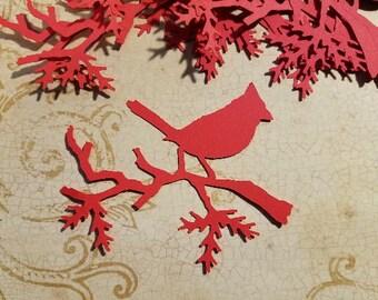 Die Cut Cardinal Embellishments.  #A-8