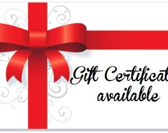 Gift Certificate towards axe purchase