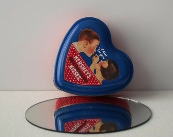 Vintage Hershey's Kisses Heart Shaped Collectibles Tin