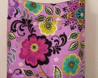 Purple & Green Molly Dinkin Floral Shoulder Bag, Hobo Bag