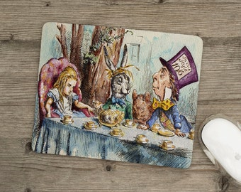 Mousemat - Pad - Alice In Wonderland - Mad Hatter's Tea Party