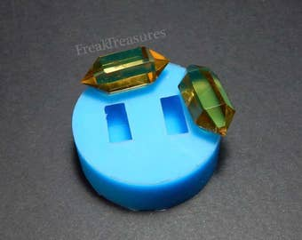 Rubber silicone crystal quartz mold for resin casting. CM19