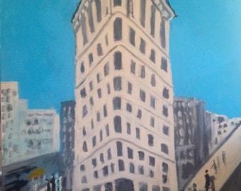 Flatiron Building original signed painting
