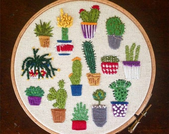 Cacti Embroidery Kit