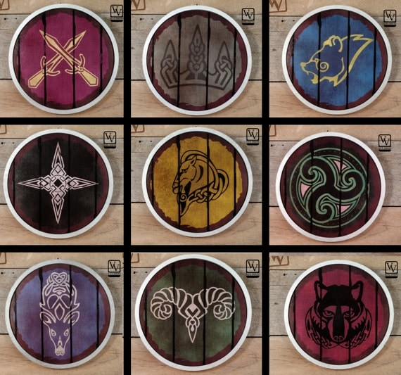 Skyrim Shield Full Set Of 9 Or Mix And Match