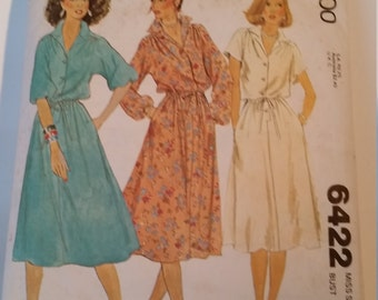 "Vintage 1978 McCall's Sewing Pattern 6422 Misses' shirt dresses in Size 18 (bust 40"")"