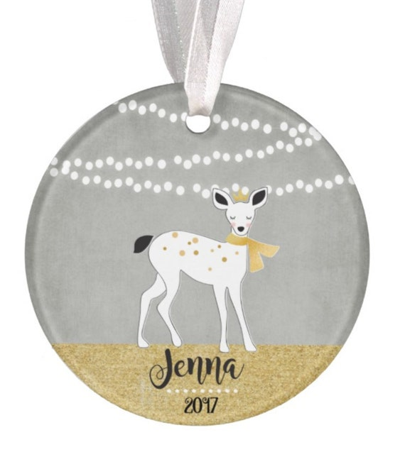 Baptism Ornament Christmas Ornament By Ryellecreations On Etsy: Ornament Christmas Ornament Baby Ornament Deer Ornament