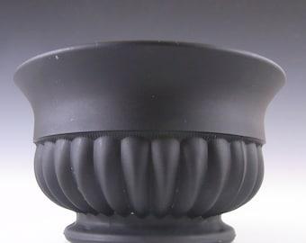 Davidson Art Deco 1930's Jet Black Glass Bowl Set #1910M