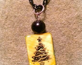 Christmas tree jewelry, christmas tree pendant, christmas tree gifts, hostess gift, holiday jewelry, tree jewelry