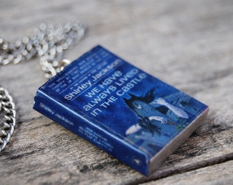 We Have always lived in the Castle's book necklace