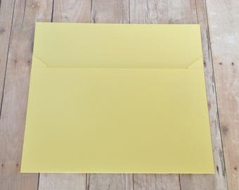 Pale Yellow Matte Envelopes - 4x6 (A6) Mailable - Greeting Cards, DIY Invitation Envelopes, Wedding, Birthday, Shower Invitations -Set of 10