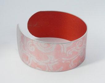 SALE 30% OFF - Cuff Bracelet/Bangle - Annodised aluminium print