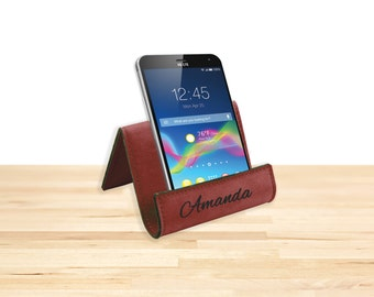 Personalized Wine Leatherette Easel, Phone Stand, Tablet Stand