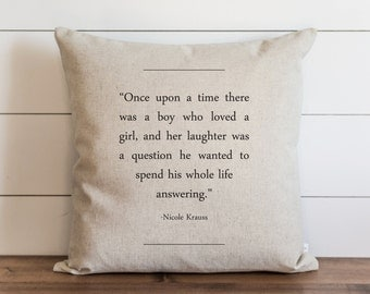Book Collection_Nicole Krauss 20 x 20 Pillow Cover // Everyday // Throw Pillow // Gift // Accent Pillow // Cushion Cover