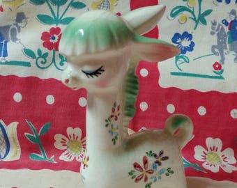 """Tilso Giraffe with Green Mane Porcelain Figurine  """"April Serene"""""""