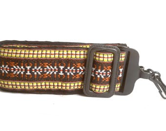 Vintage 1970's Woven Rainbow Hippie Camera Strap for Film or Cine Camera