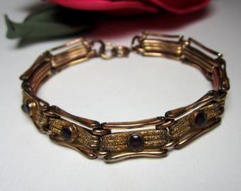 Antique Victorian amethyst panel gateway GF bracelet