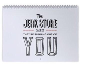 2017 Seinfeld Wall Calendar, Seinfeld, Office Calendar, Monthly Wall Calendar, TV Calendar, Desk Calendar, Jerk Store Called, Office Supply