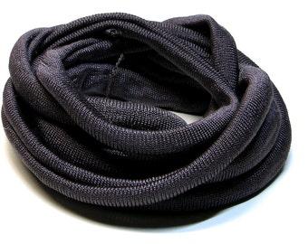 100% Silk Ribbon Elastic - Hand Dyed - Jersey - DARK BROWN