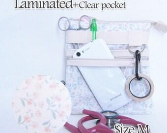 MW, Zipper clear pocket Laminated nurse tool belt, Nurse smartphone bag, waist nurse bag, RN gift, Gift for nurse, veterinarian bag