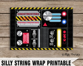 "Ghostbusters Themed ""Portable Proton Pack"" Party Favor Printables [INSTANT DOWNLOAD]"