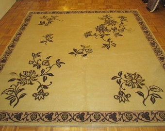 """7'6"""" x 7'6""""  Hand Knotted New Art Deco Rug with Silk Highlights  #941"""