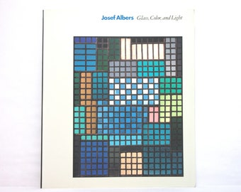 Josef Albers ~ Glass, Color and Light 1995 Guggenheim Foundation Geometric Abstraction BAUHAUS Vintage Art Book