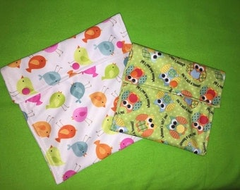reusable washable snack bags - snack size