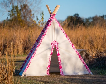 Kid's Teepee Tent No. 0303XL - Kid's Extra Large Teepee Play Tent