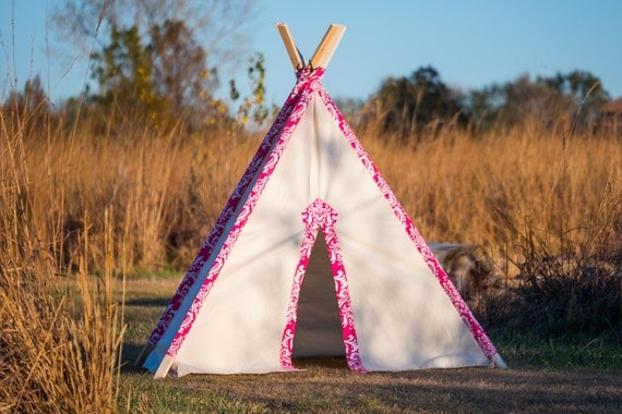 Kidu0027s Teepee Tent No. 0303XL - Kidu0027s Extra Large Teepee Play Tent - Pink & Kidu0027s Teepee Tent No. 0303XL Kidu0027s Extra Large