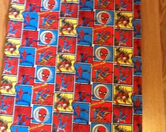 Standard Spiderman pillow case with red trim