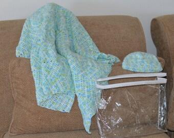 Hand Crocheted Baby Afghan Set