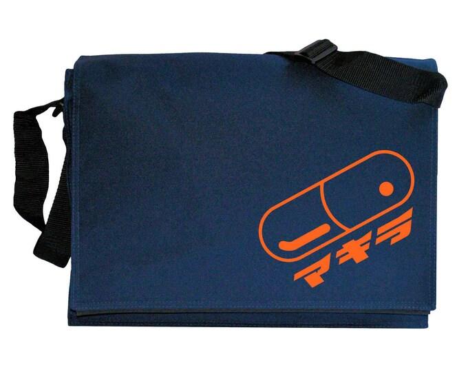 Akira Pill Japanese Anime Navy Blue Messenger Shoulder Bag