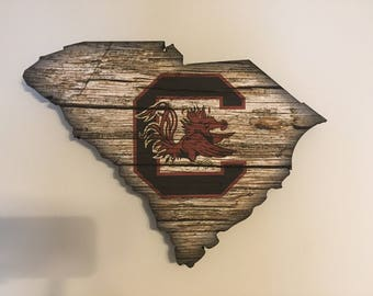 University of South Carolina - SC shaped print