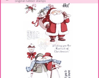 MERRIEST CHRISTMAS stamps Clear Stamp by Art Impressions  4790 cc22
