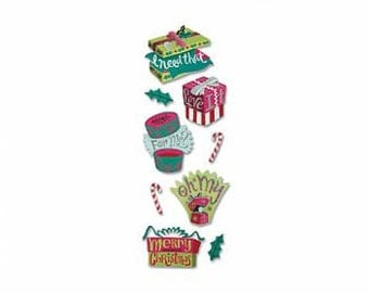 ON SALE - Jolee's a Touch of Jolees CHRISTMAS Gifts stickers self adhesive embellishments Spjj151 1.cc76