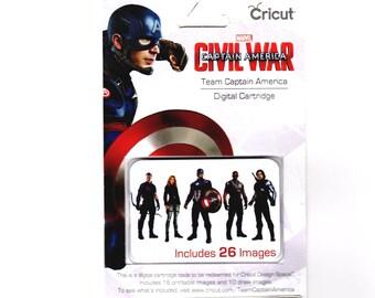 Cricut Digital Cartridge Captain America Civil War TEAM CAPTAIN AMERICA 26 Images  for Cricut DeSIGN Space 2003794 - cc04 DG003