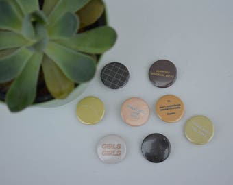 """1"""" equality pinback buttons"""