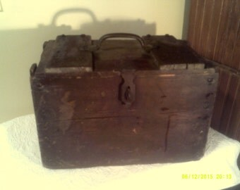 Vintage General Electric Wooden Crate Box, 10-C Transil Oil, Schenectady NY, GE Wooden Box, Wooden Shipping Crate, Handled Wooden Box