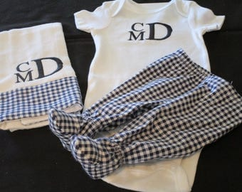 Newborn Boy Outfit,Baby Boy Coming Home Outfit,Personalized Baby Boy Clothes, Newborn Boy Take Home Outfit,