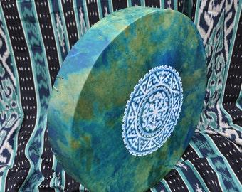 16' Shaman drum, Deer Hide, painted,Handcrafted