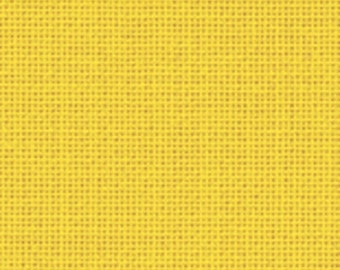 27 count yellow Zweigart Evenweave - Cut Piece 37.5 x 45 cm. Cross stitch fabric, easy fabric to work with.  Quality Evenweave fabric.