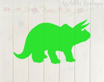 Dinosaur, Triceratops, dino, SVG, PNG, DXF files, instant download