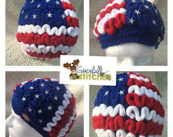 American Flag March of Science Brain hat *** March for Science Hat ** Brain beanie *** Brain ** Zombie Brains ** Earth Day