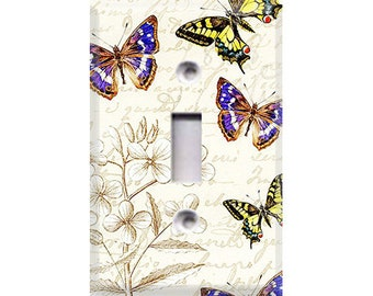 Butterfly Sketching Light Switch Cover