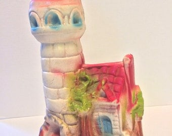 1940's Carnival Chalkware Lighthouse with Cottage